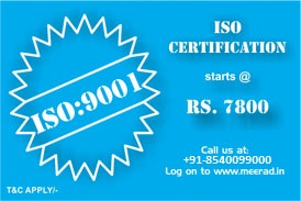 ISO certification service starts at Just Rs. 7800/- only. | Visit www.meerad.in for more information.|